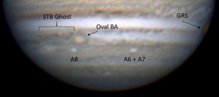 Jupiter May 31st 2018 events